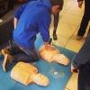 Тренировка навыков СЛР и ОБЖ на манекенах ПРАКТИ-МЭН в рамках Вторых Московских Юношеских Медицинских Игр, 26 апреля 2014 года