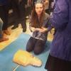 Отработка навыков ОБЖ на манекенах ПРАКТИ-МЭН в рамках Вторых Московских Юношеских Медицинских Игр, 26 апреля 2014 года